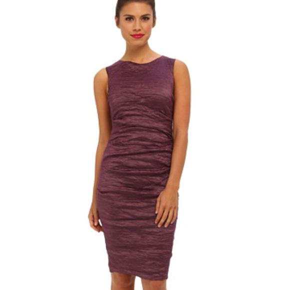 Nicole Miller Dresses & Skirts - Nicole Miller Purple Ruched Metallic Dress